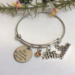 Jewelry - New sister graduation charm bracelet